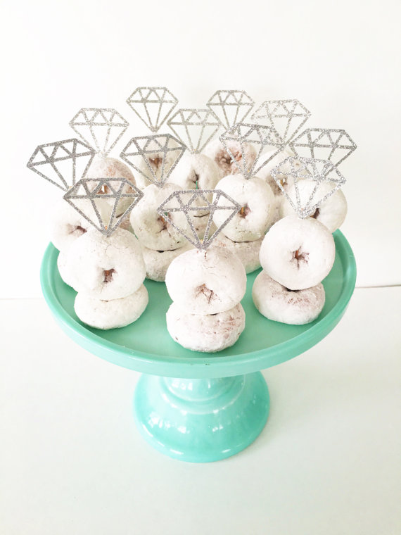 Engagement Party Decor Diamond Donut Topper