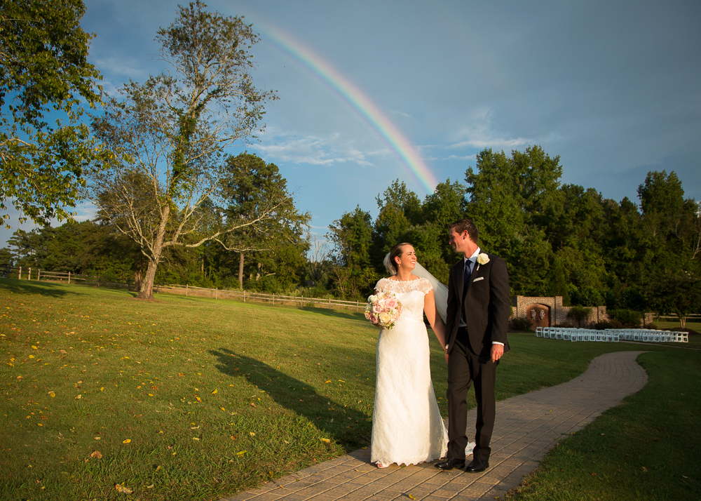 Oaks at Salem Apex Wedding Photographer Rainbow