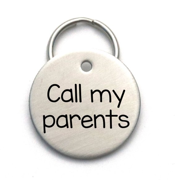 Dog Tag Call My Parents