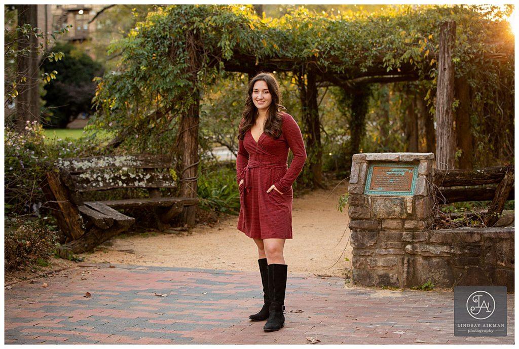 Coker Arboretum Chapel Hill Senior Photographer