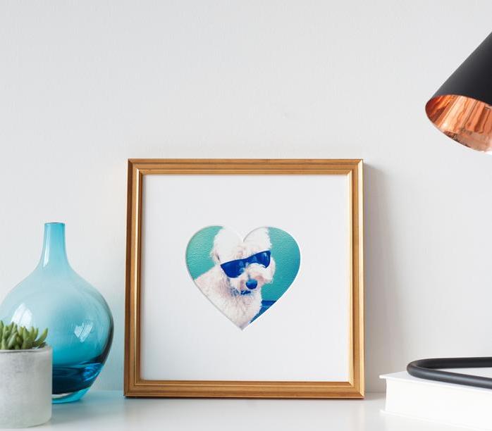 Heartsagram heart shaped mat
