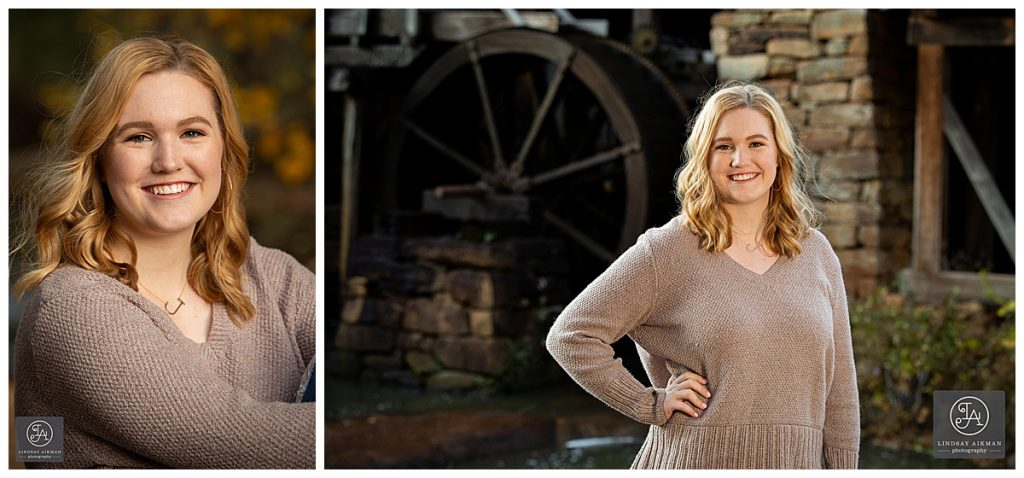 Yates Mill Raleigh Fall Senior Photographer