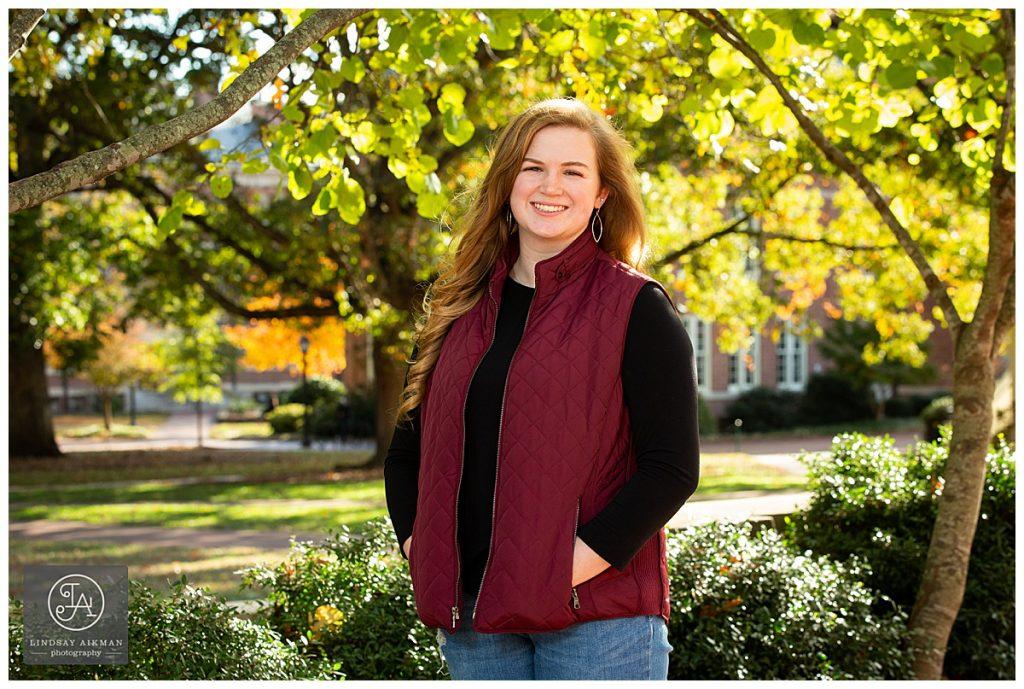 Chapel Hill Senior Photographer